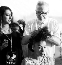 privé hairstyling laurent d style fashion week LA